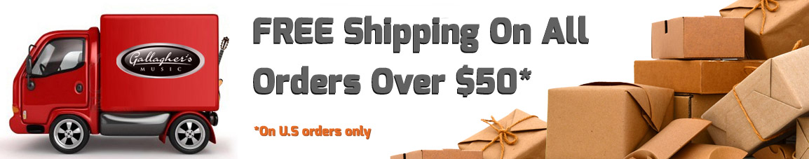 free shipping banner gallaghers