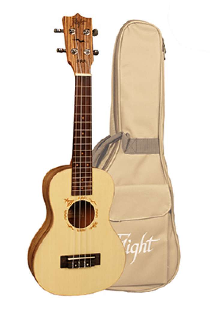 Flight Concert Uke DUC-525 with Gig bag