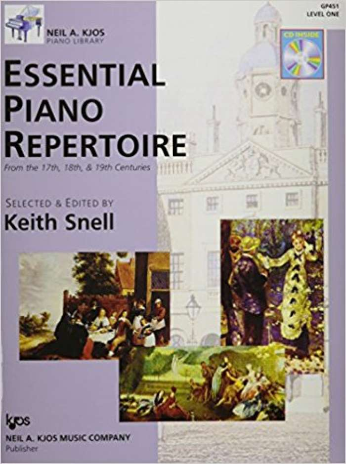 Essential Piano Repertoire of the 17th, 18th, & 19th Centuries Level 1