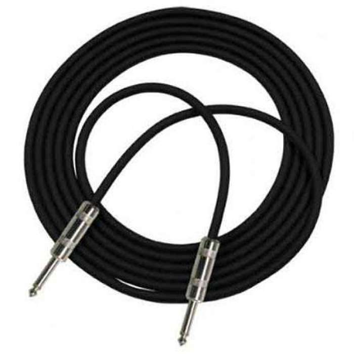 "Pro Co Sound 10' StageMASTER 24 AWG Instrument Cable, Straight 1/4"" Phone Plugs"
