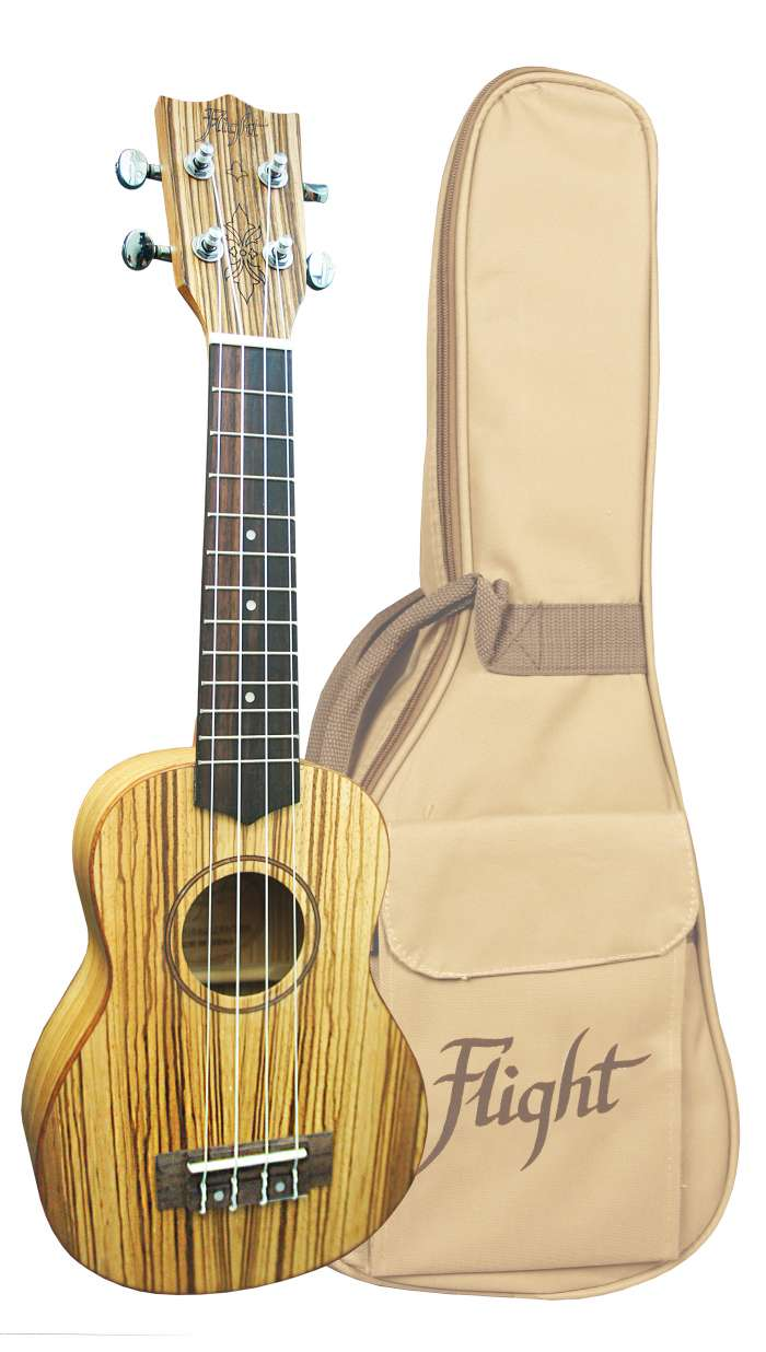 Flight DUS 322 Designer Series Soprano Uke with Gig Bag